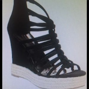 Carlos Santana Camilla Strappy Wedge Sandals